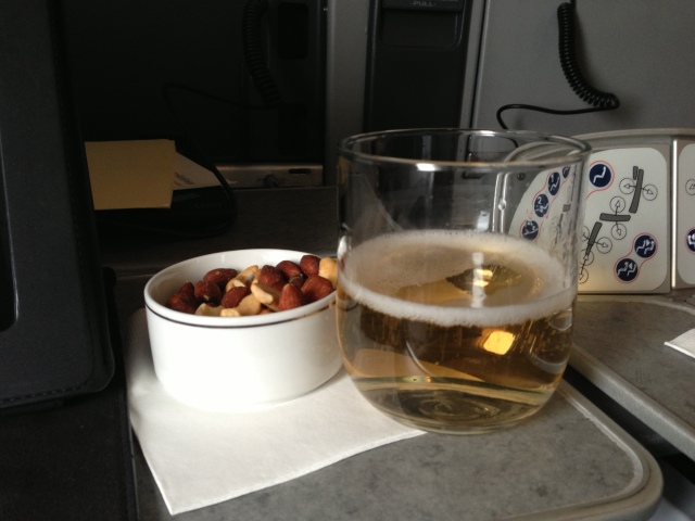 American Airlines First Class -- Champagne